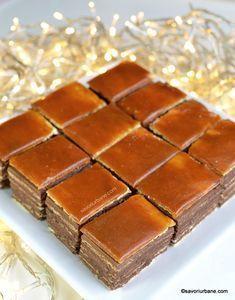 Romanian Desserts, Romanian Food, Sweets Recipes, Just Desserts, Cake Recipes, Dobos Torte Recipe, Bulgarian Recipes, Different Cakes, Pie Dessert