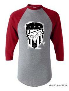 Lord Lyfe Co. Loyalty Brand Raglan Tee ~   Grey/Red      ***       Find it Now @  www.LordLyfe.com