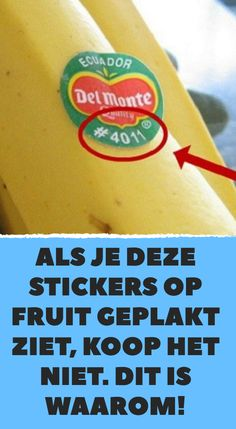 If you see these stickers stuck on fruit, don& buy it. - If you see these stickers stuck on fruit, don& buy it. Organic Lifestyle, Healthy Lifestyle, Weird But True, Simple Life Hacks, Healthy Recipes, Food Facts, Fruit, Good To Know, Natural Health