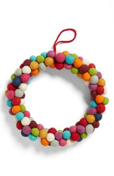 Free shipping and returns on CREATIVE CO-OP Pompom Wreath at Nordstrom.com. A bright wreath crafted from colorful felt pompoms adds Christmas cheer to your home.