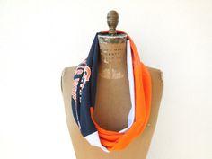 Oregon State T Shirt Infinty Scarf / Black / Orange / by ohzie  #oregon #beavers #oregonstate #scarf #accessory #ecofriendly