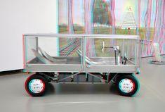 https://flic.kr/p/221fSCo   Square car by John Körmeling Boijmans Rotterdam 3D   anaglyph stereo red/cyan