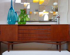 Danish Teak Credenza Mid Century Modern Credenza or Buffet Made in Denmark Furniture Teak Buffet