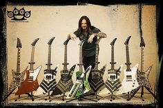 Jason Hook and some of his guitars. I need a good set of guitars like this!