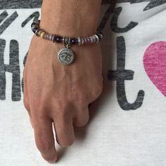 Natural stone bracelet Amethyst bracelet purple crystal by AnuanA