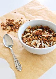 Coconut Pecan Granola (Gluten-free & Refined Sugar-free) | Bakerita  i have always wanted to make my own granola!