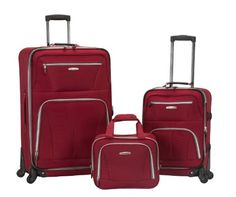 Luggage Sets Collections | Rockland Luggage 19 Inch 28 Inch Expandable Spinner 14 Tote Red One Size *** Want additional info? Click on the image. Note:It is Affiliate Link to Amazon. #repost