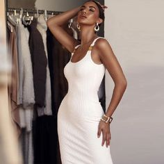 Sexy Spaghetti Strap Evening Party Bodycon Bandage Dress #Bodycondress #spring2021 #Womenoutfits #fashion #likeforlike #comment #followforfollow Homecoming Outfits, Prom Party Dresses, Summer Dresses, Clubwear, Christmas Party Outfits, Valentine's Day, Dresser, Fashion Dresses, Bodycon Dress