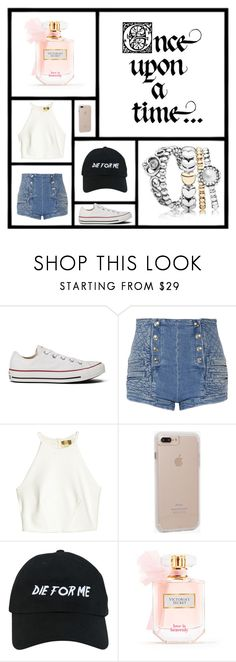 """""""Daily Wear"""" by lilyismyname-13 ❤ liked on Polyvore featuring Converse, Pierre Balmain, Once Upon a Time, Case-Mate, Nasaseasons and Victoria's Secret"""