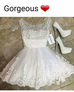Sexy Homecoming Dress A line Scoop Beading Tulle Short Prom Dress Party Dress White Homecoming Dresses, Elegant Prom Dresses, Cute Dresses, Short Dresses, Wedding Dresses, Vestidos Color Blanco, Party Gowns, Prom Party, Dress Party