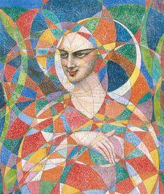 Bolesław BIEGAS (Biegalski) - Altius Cubist Artists, Art Deco, Harlem Renaissance, Bauhaus, Modern, Painting, Emotional Intelligence, Artists, Social Realism