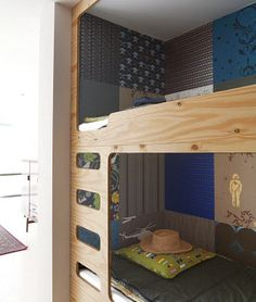 This is what I want to do with the bunk beds and the different textures for my son