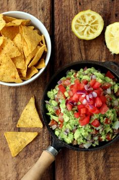Rainbow Guacamole & Chips. Top it with delicious Greek Yogurt subbed in for sour cream.