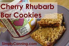 Oatmeal bar cookie recipe, Cherry Rhubarb anyone?