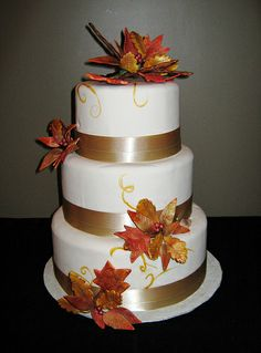 fall wedding cakes | fall wedding cake