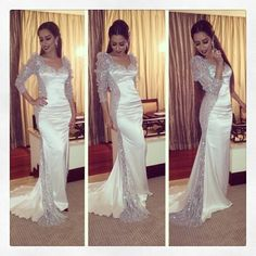 88e9af7cfb83a تصميم دار المنصوري Long Sleeve Evening Dresses