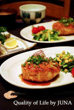 さっぱりヘルシー☆鶏バーグ(ムネ肉挽き肉)|レシピブログ