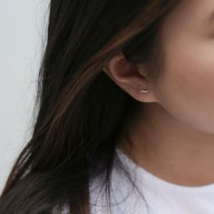 Our tiny bar stud earrings are a sliver of gold to adorn your ear. Graceful and elegant, these tiny staple size studs are like a classic Little Black Dress. Gold Bar Earrings, Tiny Stud Earrings, Simple Earrings, Dainty Earrings, Best Friend Necklaces, Minimalist Earrings, Black Rings, Fine Jewelry, Gold Jewelry