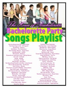 Free Bachelorette Party Songs Playlist | The House of Bachelorette - The Ultimate Bachelorette Party Supplies Store!