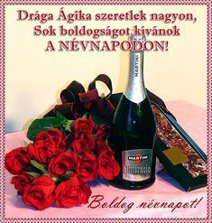 névnap, képeslap, virágok, köszöntő, pezsgő, rózsa, Name Day, Dragon Age, Martini, Thinking Of You, Wine, Bottle, Birthday, Thinking About You, Birthdays
