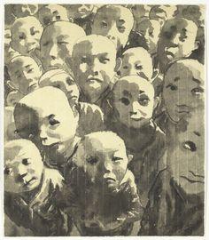 Fang Lijun. Ink-and-Wash Painting No. 11. (2004)