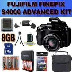 Fujifilm FinePix S4000 14 MP Digital Camera with Fujinon 30x Super Wide Angle Optical Zoom Lens and 3-Inch LCD Accessory Saver 8GB NiMH Battery/Rapid Charger Bundle International Version With no Warranty BLACK - http://www.bestdslrdigitalcamera.com/camera-photo-video/digital-cameras/point-shoot-digital-camera-bundles/fujifilm-finepix-s4000-14-mp-digital-camera-with-fujinon-30x-super-wide-angle-optical-zoom-lens-and-3inch-lcd-accessory-saver-8gb-nimh-batteryrapid-charger-bundl