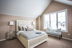 Porchlight Developments is a new home builder that focuses on building amazing communities in Regina and Winnipeg New Home Builders, Master Bedroom, New Homes, Building, Furniture, Home Decor, Master Suite, Homemade Home Decor, New Home Essentials