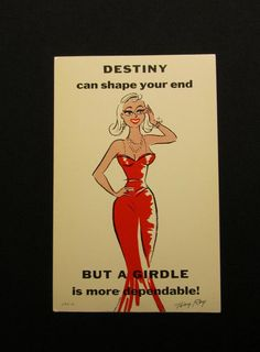 Tony Roy vintage comic postcard Destiny can by WillowValleyVintage
