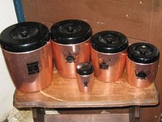 West Bend Metal  coppertone  Canister Set by Linsvintageboutique, $29.50