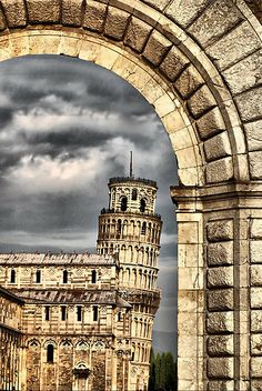 Pisa - Italy (found a parking spot directly across from the Tower of Pisa...I've been there) Pisa is an amazingly beautiful city!