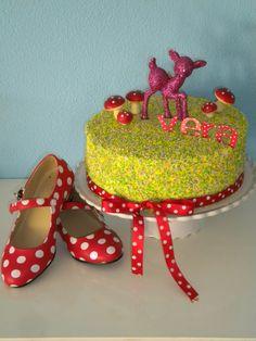 Sprinkle cake for my b-day girl!