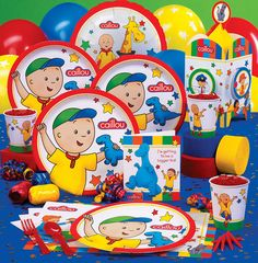 Caillou Party Supplies.  Liliana is gonna Love this!!