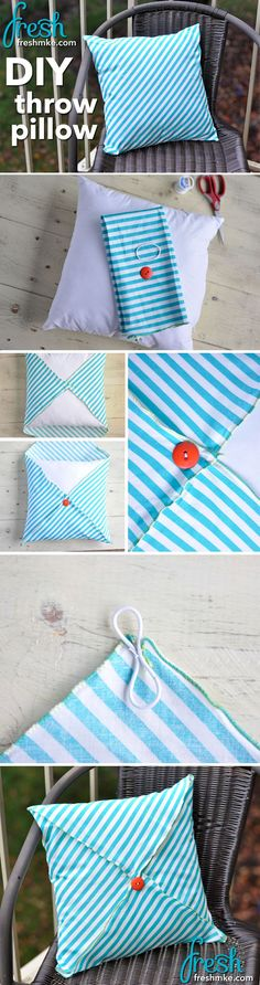 DIY throw pillow is easy and cheap & DIY: No- Sew Pillow (10 minute project that costs less than a ... pillowsntoast.com