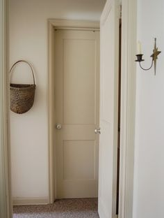 Love white walls with the trim painted a few shades darker.