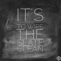 Live Extraordinary // A Clean Slate