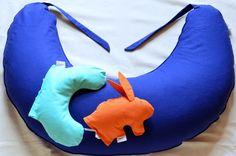 Cuscino Allattamento Senza Federa   Cuscino Mezzaluna Baby   Pupazzo Coniglietto con Pula di Farro Biologica