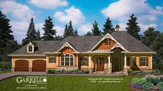 Lakeview Cottage House Plan 05357, Front Elevation, Rustic Style ...