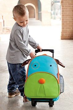 Kids Darby Dog Toddler Travel Rolling Luggage Backpack School Lunch Books Boys  #SkipHop