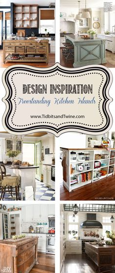 Freestanding kitchen islands are a great way to add storage and personality to your kitchen without requiring a remodel! Here are some repurpose, retail and DIY ideas.