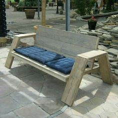 DIY Outdoor Furniture Ideas For Straightforward Residence Design Inspiration Pallet Bench, Pallet Furniture, Wood Pallets, Garden Furniture, Outdoor Furniture, Pallet Wood, Diy Wood Bench, Furniture Plans, Outdoor Projects