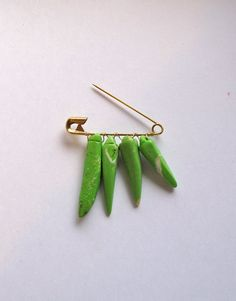 Spike brooch green African Magnesite beads on by AnAstridEndeavor, $20.00