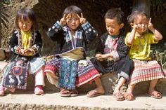 Miao children Chiang Mai Thailand