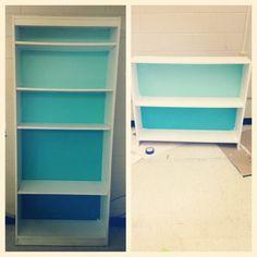 Refinished bookcase