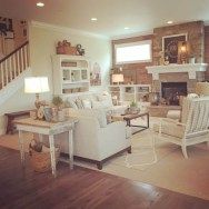 Shabby chic farmhouse living room decor ideas 06