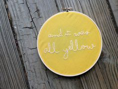 Hey, I found this really awesome Etsy listing at https://www.etsy.com/listing/211817836/and-it-was-all-yellow-coldplay-lyrics-6