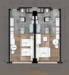 hotel floor plan Joyze Hotel Xiamen, Curio Collection by Hilton Plano Hotel, Cabana, Boutique Hotel Room, Hotel Floor Plan, Hotel Suites, Suite Room Hotel, Hotel Room Design, Hotel Architecture, Floor Plan Layout