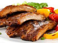 Travers de porc grillés, vraiment bien ! 1 cc de : Curcuma - curry - thym - poudre de tomates ou concentré - vinaigre - tabasco - miel - moutarde - herbes de provence