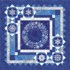 """Holiday Snow - PTN1112 Barb Sackel for Quiltwoman.com  Size: 52"""" x 52"""""""