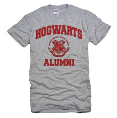 Hogwarts Alum Tee- The nerd part of me really wants this shirt.