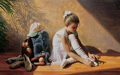 Denim To Lace by Greg Olsen - Denim To Lace Painting - Denim To ...